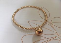 14k gold filled sphere charm