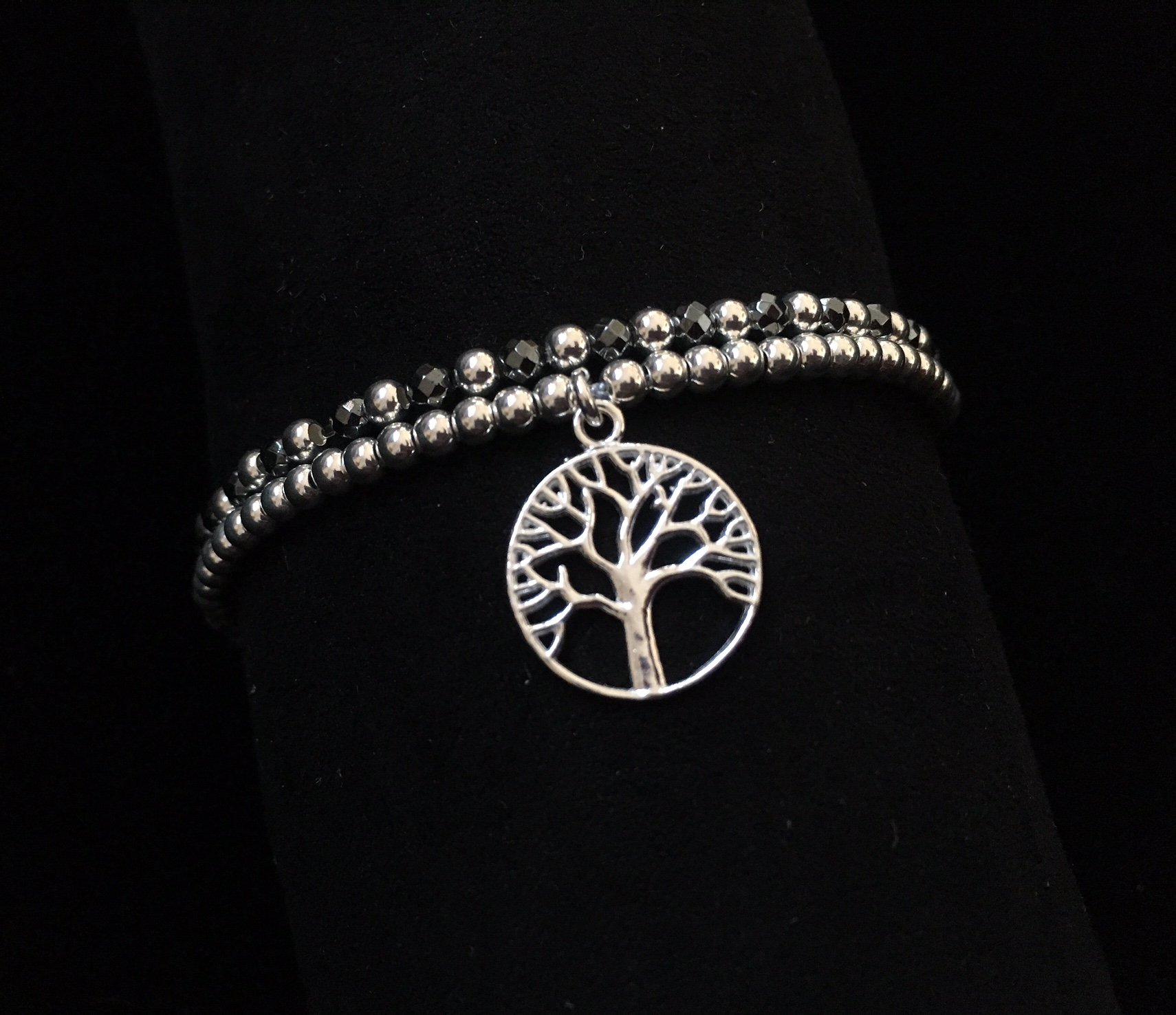 'Tree of Life' with Hematite stones