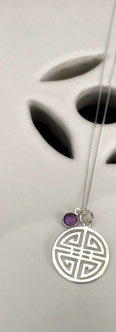 The Asian Inspired Pendant with the June birthstone
