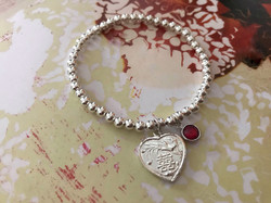 The heart double happiness charm