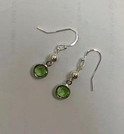 Sterling silver earrings with the birthstone of your choice
