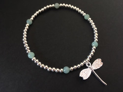 The Amazonite and dragonfly charms