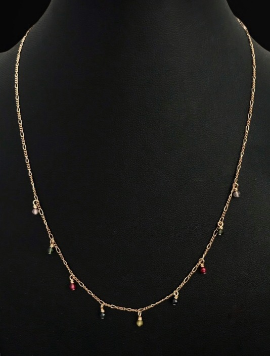 The Tourmaline droplet necklace