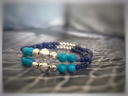 Silver, Sodalite and Turquoise