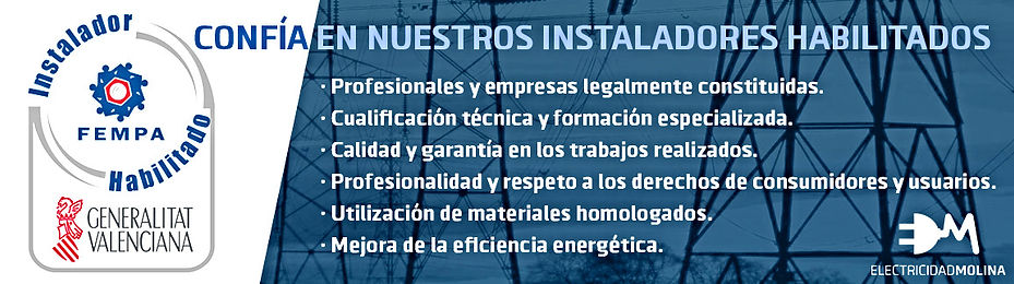 Sello Instalador Electricidad Molina