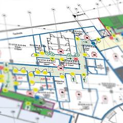 CAD digitalisieren zeichnen Plan Brandschutzplan Fluchtwegplan Rettungswegplan