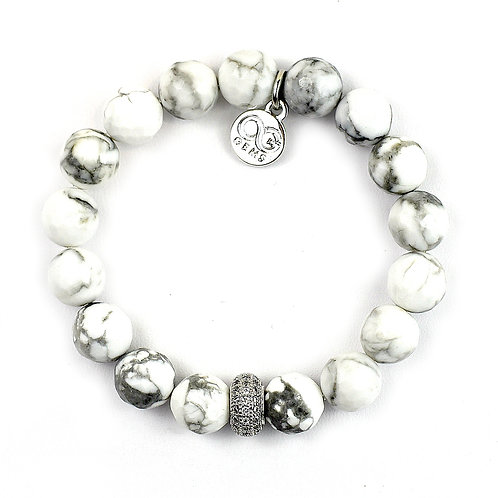 LOLA • FACETED HOWLITE 10MM