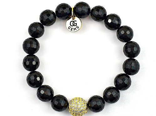 AVA • FACETED ONYX 10MM