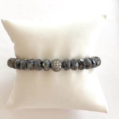 DANI • 4MM X 8MM BLACK LABRADORITE
