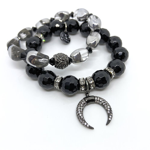 SYDNEY • FACETED ONYX • GLASS • 10MM & 12MM
