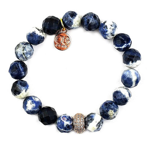 STASSI • FACETED SODALITE • 10MM