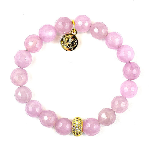 BONNIE • LIGHT PURPLE  FACETED JADE 10MM