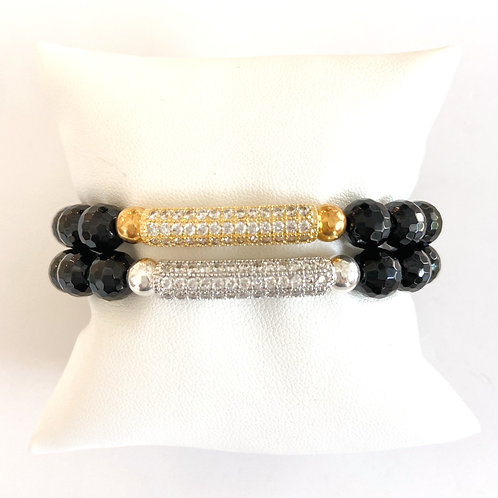 SKY • FACETED ONYX 8MM