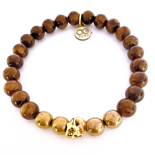 HAWK • BROWN MASHAN JADE 8MM