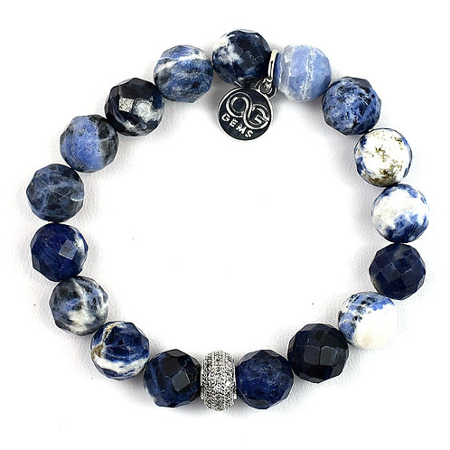 LOLA • FACETED SODALITE 10MM