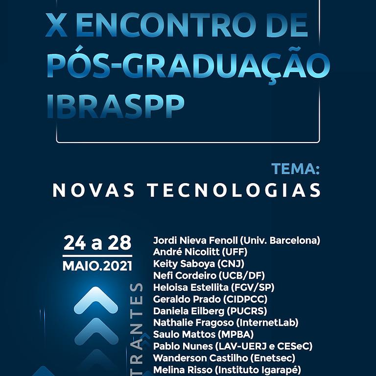 X ENCONTRO DE PÓS-GRADUAÇÃO IBRASPP
