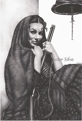 Maria Felix With Rifle