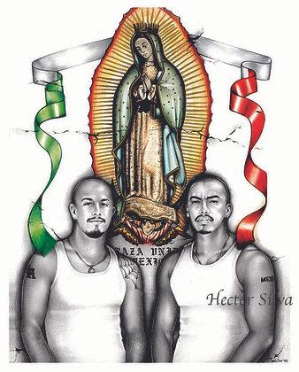 Homeboys con La Virgen