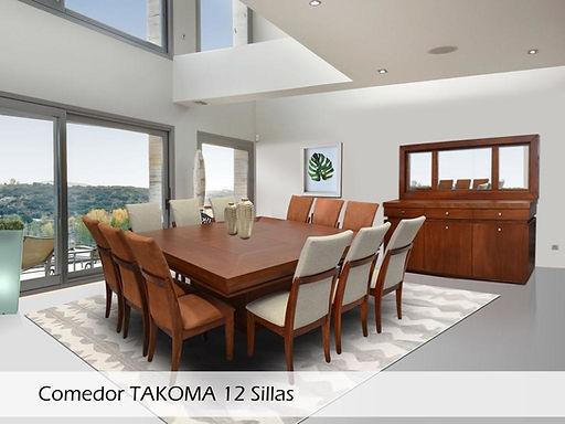 Comedor Takoma 12 sillas