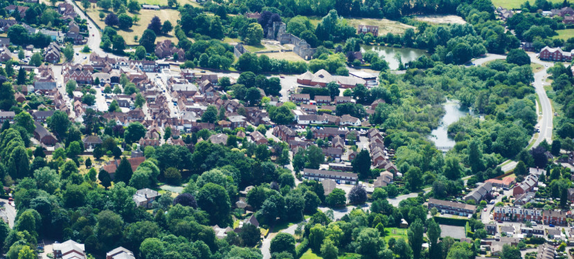 Bishop's Waltham aerial photo