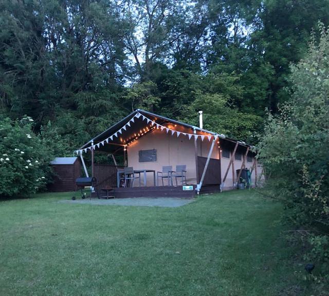 Hazel Safari tent with lights
