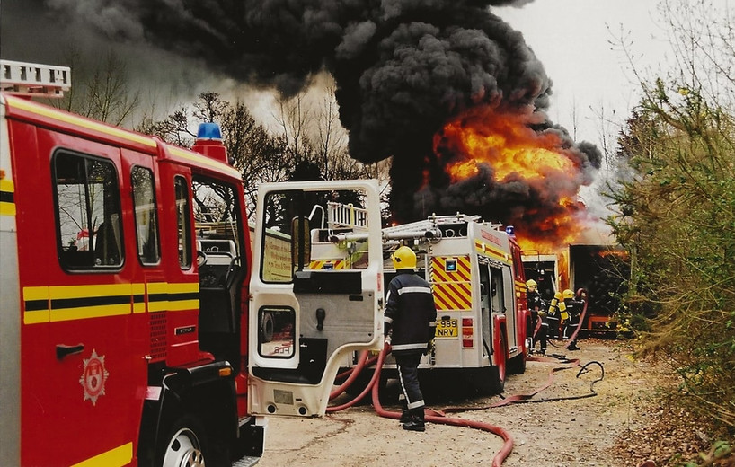 Abbey Mill, c1998, Fire in container lorry.