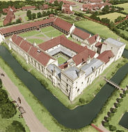 Bishop's Waltham Palace as it may have looked in the mid-15th century (Image courtesy of English Heritage)