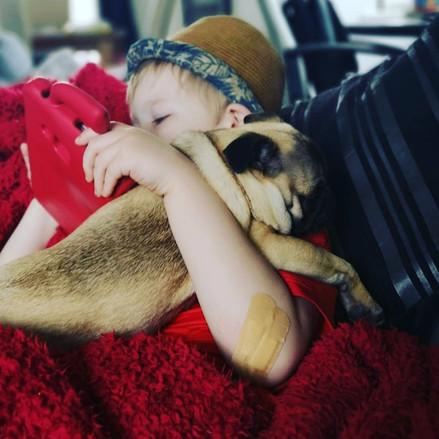 C Whittle: Family cuddles