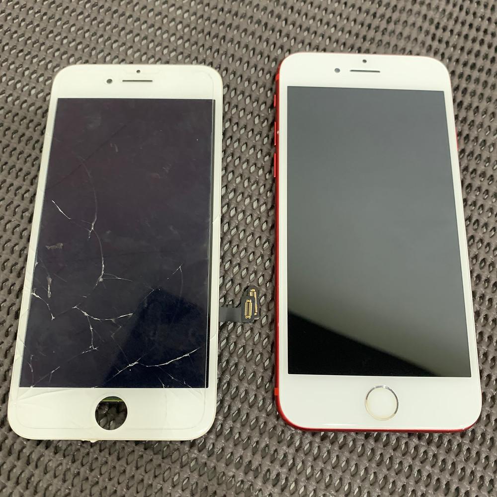 iPhoneを落として画面真っ暗になった場合、パネル交換で直るかもしれません。