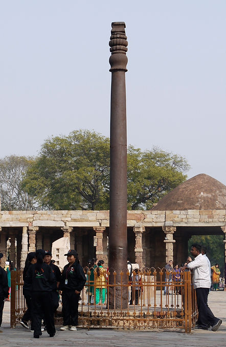 delhi iron pillar india