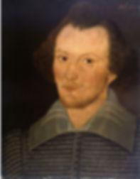 sanders, shakespeare, portrait, painting, william, writer