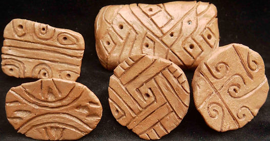 catalhoyuk, stamps, seals, turkey, neolithic, symbols, archaeology, art, potter, magic, ceramic, symbols, replicas, replica