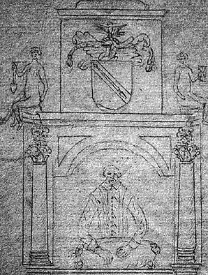 shakespeare, dugdale, monument, engraving, holy, trinity, church