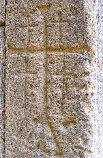 medieval, graffiti, jerusalem, cross, knights, templar, templars, crusaders, domme, prison, grafito