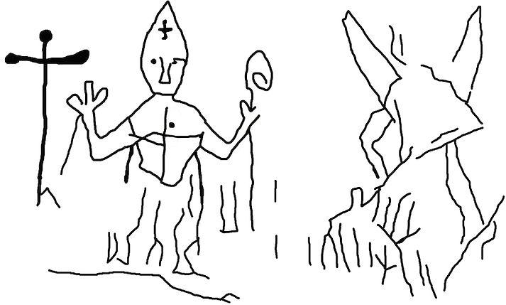 medieval, graffiti, knights, knight, templar, templars, domme, graffito, cathars, heresy