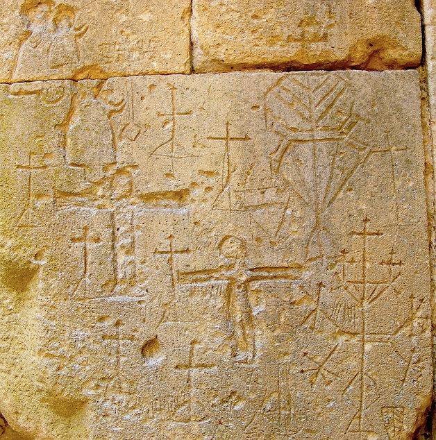 medieval, graffiti, knights, templar, templars, domme, prison, holy, grail