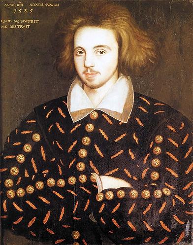 christopher, marlowe, william, shakespeare, portrait, image