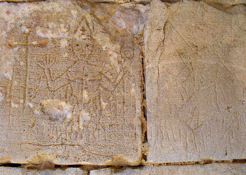 medieval, graffiti, knights, knight, templar, templars, domme, graffito, pope, clement, cathars, heresey