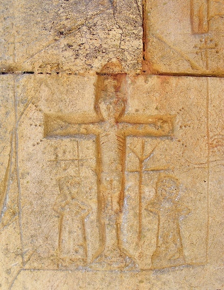 knights, templar, domme, medieval, graffiti, crucifixion