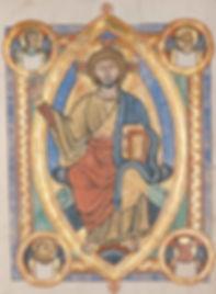 christ, vesica, piscis, mandorla, illuminated, manuscript, templars, hospitallers