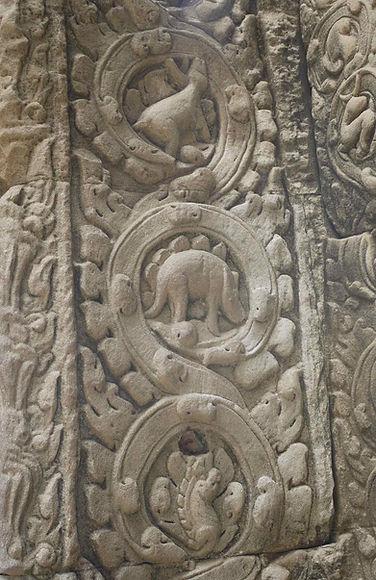 stegosaurus angkor thom prohm cambodia