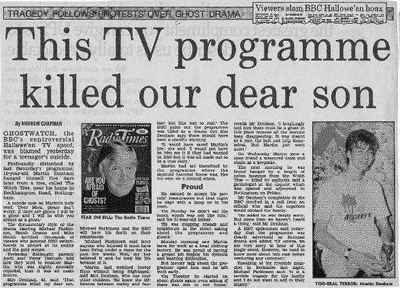 ghostwatch, bbc, death