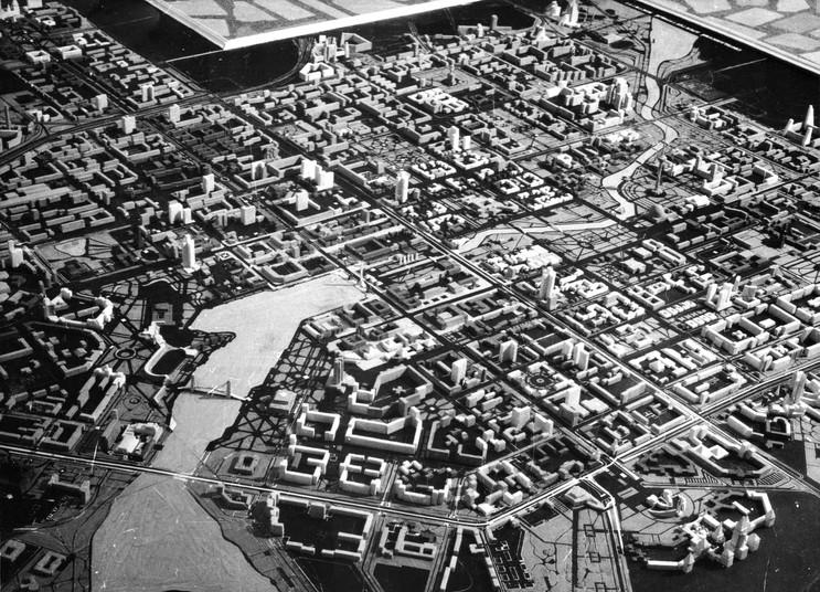 Конкурсный проект реконструкции центра г. Свердловска, 1989 г.