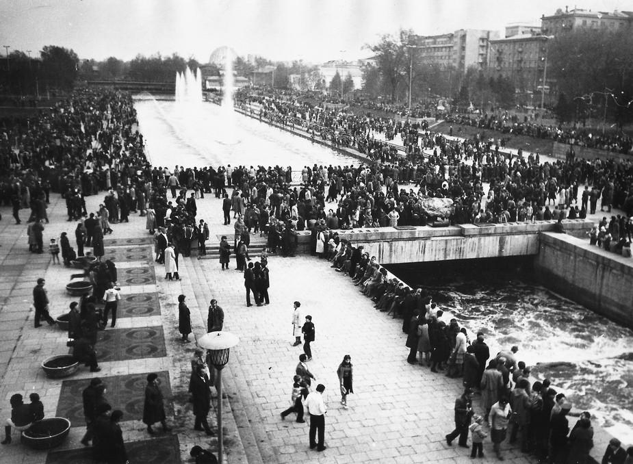 День города в Историческом сквере в Свердловске.