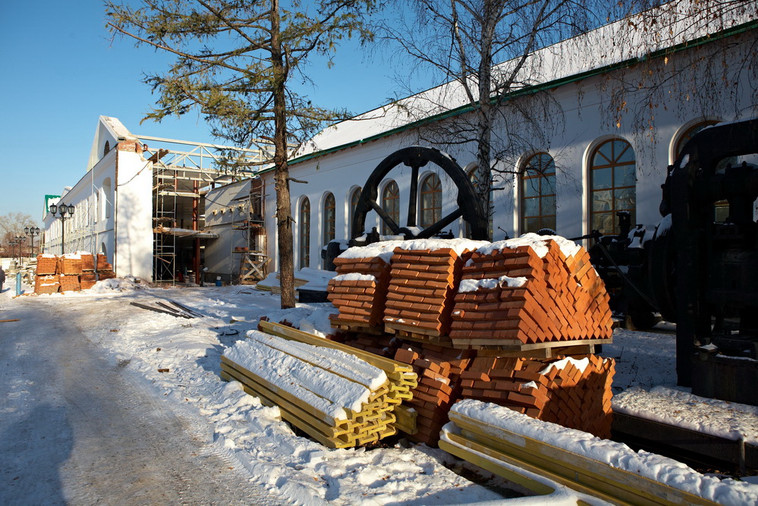 Музейный комплекс в процессе реконструкции. 2009 год.
