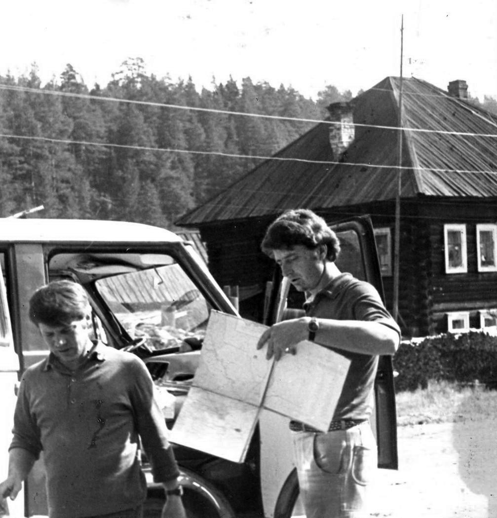 А.А. Стариков и Г.С. Заикин экспедиция САИ, 1975 г.