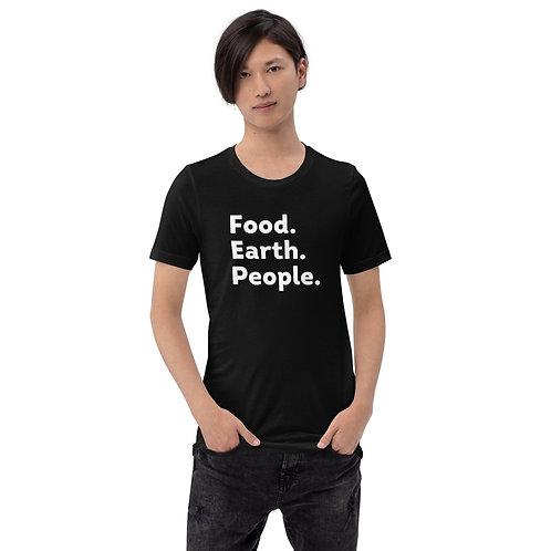 Food. Earth. People. tee