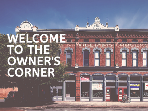 Welcome to the Owner's Corner