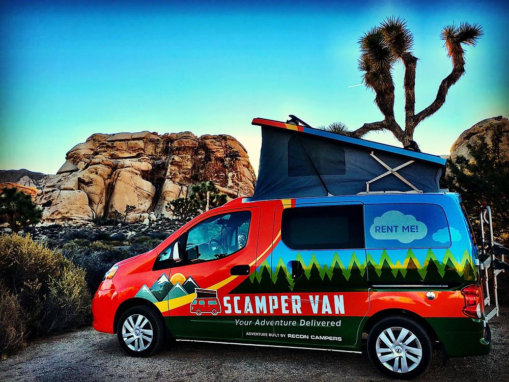 sCAMPer van on a mountainside