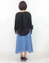 sabena / レースアップデニムスカート